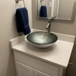 Quartz Vanity- Vessel Sink